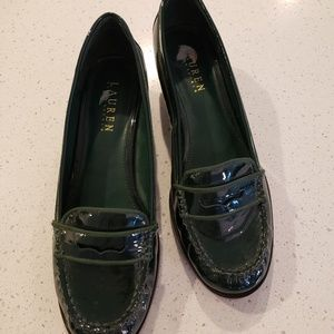 Green Patent Leather Loafers